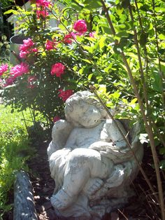 Her Enchanted Garden... Garden Cherub (1) From: Uploaded by user, no url