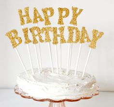 It's your party and you'll make a big, glittery birthday cake topper if you want to!