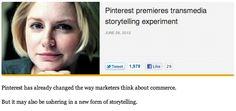 Pinterest premieres transmedia storytelling experiment   The Daily dot @dailydot #BeatGirl