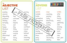 Adjective-and-Adverb-List-Free-Printable.jpg 560×360 pixels