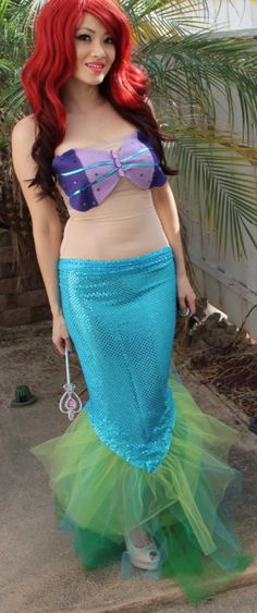 Good I Like That Her Tummy Is Covered With The Nude Netting DIY Mermaid Costume  DIY Ariel Little Mermaid Costume