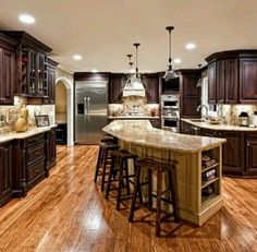 Like the curved counter    Like the dark counters with light granite - would do counter in sone too