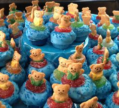 Swim Banquet Cake Bites - made by Dessa (idea from Bakerella)