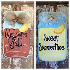 Sweet Tea Mason Jar Door Hanger Sweet by SouthernStyleGifts $49.99 & Hey I found this really awesome Etsy listing at https://www.etsy ...