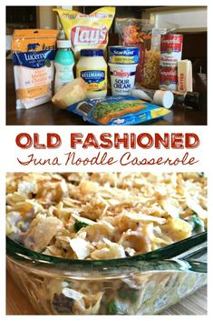 The Best Old Fashioned Tuna Noodle Casserole - Recipes Best Tuna Casserole, Tuna Casserole Recipes, Casserole Dishes, Steak Casserole, Old Fashioned Tuna Casserole Recipe, Tunafish Casserole, Recipes, Casserole Recipes, Stuffed Mushrooms