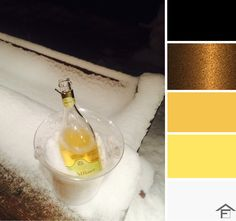 palette, colore, champagne, festa, neve