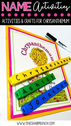 Practice alphabet recognition in context with editable name activities, including name crafts, name graphs, name poems, and name sorting mats! We love the Chrysanthemum activities! Kindergarten Name Activities, Preschool Names, Alphabet Activities, Preschool Classroom, Classroom Activities, Book Activities, Preschool Ideas, Name Writing Activities, Classroom Ideas