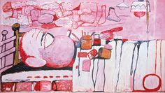 Philip Guston Painter in Bed  1973 Oil on canvas 152.4 x 264.2 cm    60 x 104""