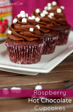 Raspberry Hot Chocolate Cupcake