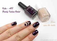 [Nageldesign / nailart] aubergine single chevron