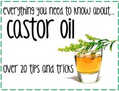 Over 25 uses for castor oil - for acne, wrinkles, detox, hair growth and shine, eyebrow and eyelash growth - the list goes on!! #castoroil #beautyDIY #DIY