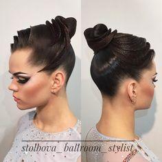 "337 Likes, 4 Comments - Дарья Столбова (@stolbova_ballroom_stylist) on Instagram: ""Прическа для красавицы @tuchkina ❤️❤️❤️ поздравляю с 1 местом! Вallroom hairstyle by Darya…"""