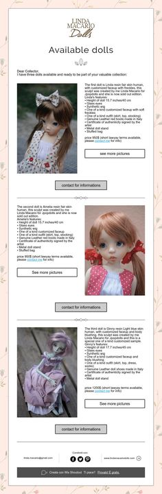 Available dolls