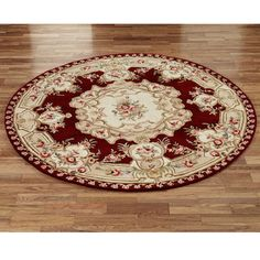 French Savonnerie Aubusson Round Rugs   And Rectangle Or Octagon   Ivory Or  Deep Red