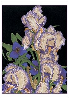 Penciled Irises - Franklin Carmichael, 1934  (Group of Seven)