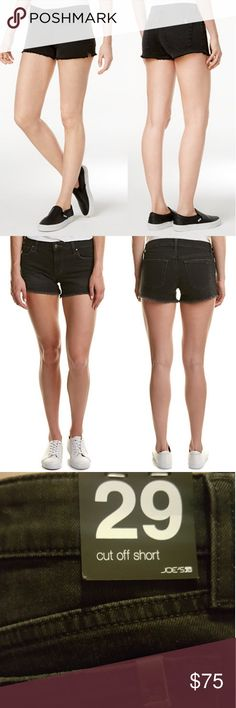"""NWT Joe's Jeans Lisbeth Black 3"""" Cut Off Short New with tags - Black denim cut off shorts with 3"""" inseam in the Lisbeth cut.   Color/pattern: Lisbeth. Inseam approximately 3in. 8.5in front rise; 12.5in back rise. Leg opening has an approximate 20in circumference. Design details: belt loops, whiskering details, raw edge hem, classic five-pocket styling. Zip fly with button closure. Logo on back right pocket. 98% cotton, 2% spandex. Machine wash. Joe's Jeans Shorts Jean Shorts"""