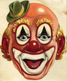old clown scary scraps Le Clown, Clown Mask, Clown Faces, Creepy Clown, Day Of Dead, Circus Art, Circus Clown, Dark Fantasy Art, Tableau Pop Art