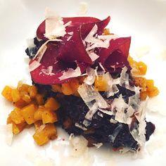 zumKochen: Schwarzes Piemont-Reis-Risotto mit Butternußkürbis...