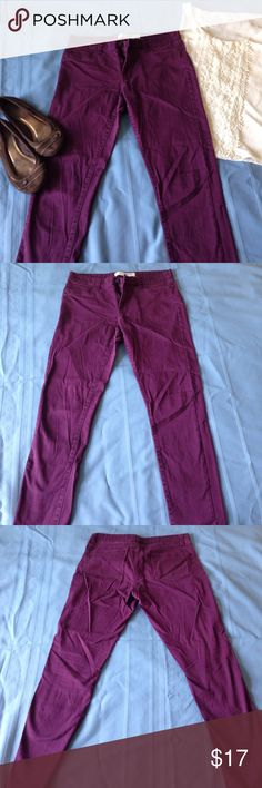 Joe Fresh Purple Straight Leg Jeans Fun color jeans for any season. Dress up or down. Front pockets are faux. Zipper and button closure. Size 8 but could probably fit a bigger 6 comfortable. 98% cotton, 2% elastane. Machine wash cold, tumble dry low. Joe Fresh Jeans Straight Leg