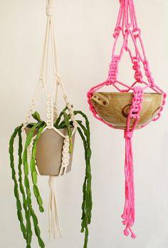 Natural rope macrame hanger  Large by kitiyapalaskas on Etsy, $55.00
