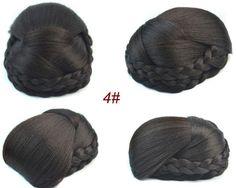 #4 Black color Chignon Quality Hair
