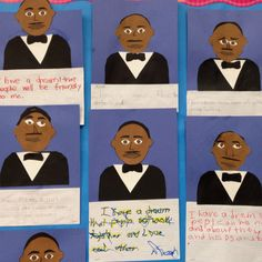Martin Luther King Jr. - language arts writing and activity .. my k-2 severe special education students work :)