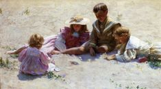 The Athenaeum - Children by the Seashore (Charles Courtney Curran - 1896)