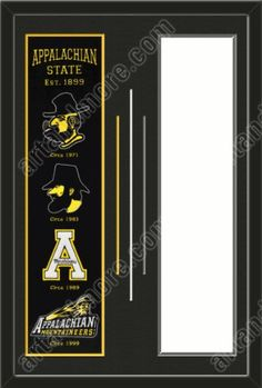 Appalachian State Mountaineers & Your Choice of other Team Heritage Banner Framed-House Divided-House Together-Awesome & Beautiful- Most MLB, NFL,NHL,NBA,NCAA Team Banners Available-Plz Go Through Description & Mention In Gift Message Which Other Team You Like Art and More, Davenport, IA http://www.amazon.com/dp/B00FJ2EQ2C/ref=cm_sw_r_pi_dp_yYXIub0SR5TGM