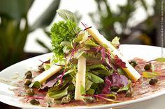 Mondo Di Vino La Table (almoço)    Carpaccio de Manzo com mini salada e vinagrete de alcaparras