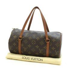 Louis Vuitton Papillon 26 Monogram Handle bags Brown Canvas M51366
