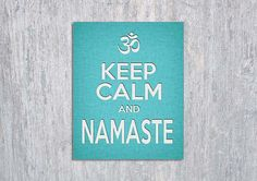 Keep Calm and Namaste Yoga INSTANT DOWNLOAD by ModernPrintableArt