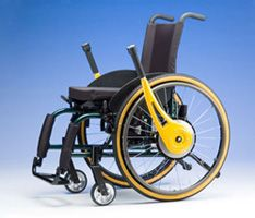 The Wijit is a revolutionary driving and braking system for manual wheelchairs. It uses precision geared levers that amplify the user's pushing power, while reducing strain on the user's shoulders and upper body. Using the Wijit promotes cardiovascular health and is easier and safer to operate. With the Wijit, even marginal (and child) users can now safely and independently propel, stop and steer their wheelchairs from a comfortable, stable, and upright position.