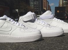"""Nike Air Force 1 """"White On Whites"""" - Spring Collection"""