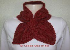 Celeida Artes em Fios: Gola em tricô! ( gravatinha)