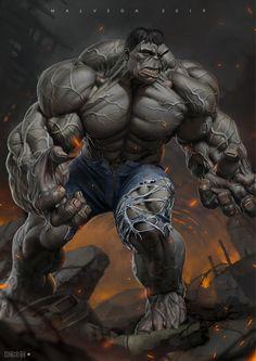 Hulk by Alex Malveda Rogue Comics, Marvel Comics Art, Hulk Marvel, Superman Hulk, Hulk Hulk, Hulk Avengers, Ms Marvel, Marvel Heroes, Captain Marvel