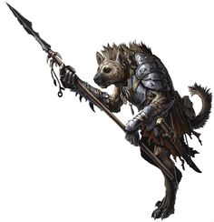 Gnoll warrior, Twotooth, acted as Treeman's bodyguard for years until he was killed in a white dragon's lair.