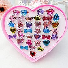 Loves Town 36 Pcs Children Kids Little Girls Princess Adjustable Jewelry Rings Value Set for Kids Birthday Party Supplies Little Girl Toys, Baby Girl Toys, Toys For Girls, Kids Toys, Baby Dolls, Little Girl Rings, Disney Princess Room, Princess Toys, Princess Favors