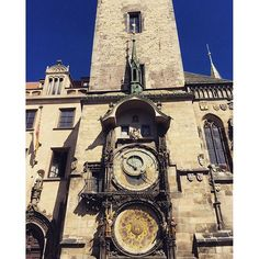 A visit to Prague wouldn't be complete without seeing the Astronomical clock! Central And Eastern Europe, Prague, Notre Dame, Clock, Study, Explore, Instagram Posts, Travel, Watch