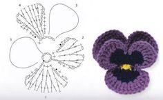 「crochet flores patrones margaritas」の画像検索結果