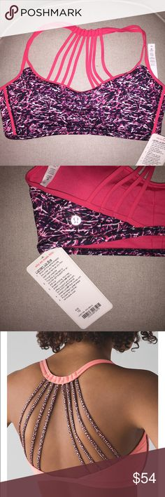 Lululemon NWT - Lighten Up Bra Size 10. Sold out! Lululemon NWT - Lighten Up Bra Size 10. Color is Mini Ripple Boom Juice Multi. Sold out online! I am a 10 in Lulu bras typically but I would say this style runs small - more like an 8. Will include a NWT skinny fly away tamer headband in pink lemonade!! lululemon athletica Intimates & Sleepwear Bras