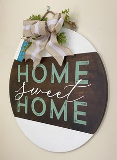 Turquoise Door, Wood Rounds, Fall Signs, Pyrography, Wooden Signs, Sweet Home, Halloween, Crafts, Ideas