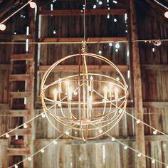 Handcrafted copper chandelier