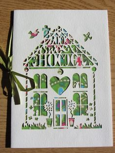 'Home Sweet Home' card £4.50