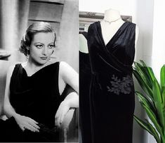 Old Hollywood Dress, Old Hollywood Glamour, Ball Gown Dresses, Prom Dresses, Vintage Ball Gowns, Bias Cut Dress, Curvy Dress, Beaded Prom Dress, Black Velvet Dress