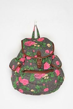 Shop Urban Outfitters for the latest styles in women's bags, wallets & backpacks. Girly Backpacks, Canvas Backpack, Cute Bags, Clothes For Sale, Sale Items, Urban Outfitters, Floral Prints, Kimchi, Purses