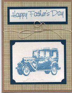 Card: Happy Father's Day using Tim Holtz embossing folder