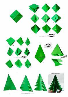 My Creativity: November 2013 – Christmas Ideas Diy Paper Christmas Tree, Christmas Arts And Crafts, Christmas Origami, Christmas Mom, Diy Arts And Crafts, Christmas Projects, Holiday Crafts, Paper Crafts, Kids Origami