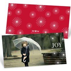Holiday Photo Cards -- Horizontal Radiant Christmas Stars
