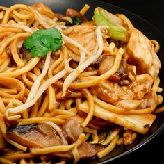Tasty and simple to prepare Easy Chicken and Mushroom Chow Mein Recipe
