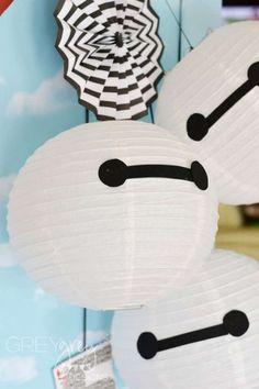 Baymax paper lanterns | CatchMyParty.com